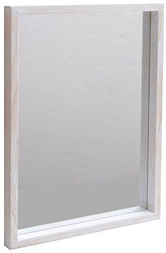 アンティークBOXミラー「アンテ」幅450 (ホワイト)