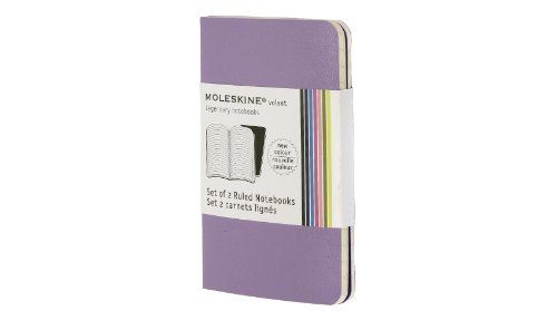 Moleskine Volant Notebook Ruled, Purple XSmall: