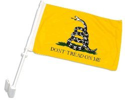 "Custom Made Pro Sb-1070 Arizona Immigration Law - Arizona ""Don'T Tread On Me"" Car Flag"