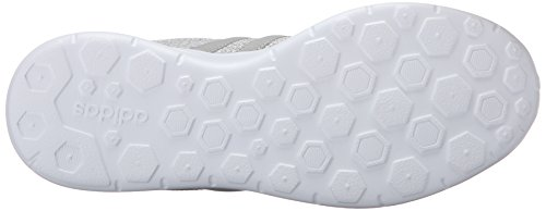 Adidas NEO Women's Lite Racer W Running Shoe, Clear Onix/Light Onix/White, 6.5 M US