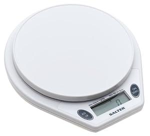 Salter 5-Pound Microtronic Kitchen Scale, White