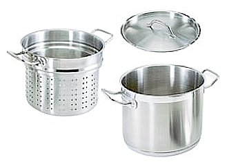 12 QT COMMERCIAL STAINLESS STEEL PASTA COOKER W/ LID