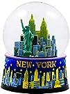New York Snow Globe -45MM Blue Skyline New York Snow Globes