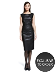 Autograph Luxury Leather Panelled Dress
