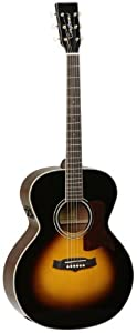 Tanglewood Grand Auditorium Acoustic Guitar with Solid Spruce Top and Mahogany Back & Sides, Vintage Sunburst Gloss Finish (TW60-SC-VS-E)