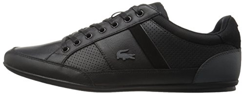 Lacoste Men's Chaymon 316 1 Cam Fashion Sneaker, Black/Dark Grey, 9.5 M US