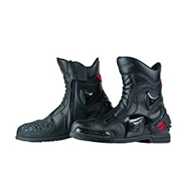�R�~�l(Komine) BK-067 PROTECT SPORTS SHORT RIDING BOOTS BLACK 26cm 05-067