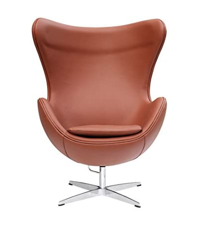Manhattan Living Inner Chair Leather, Light Brown