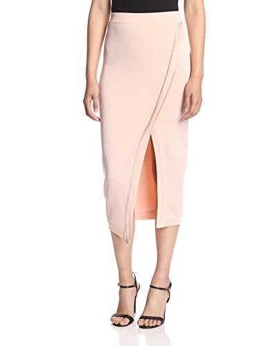 Torn by Ronny Kobo Women's Katya Side Slit Skirt  [Blush]