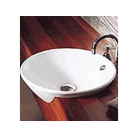 Leda Vasque Semi Recessed Sink Finish: White