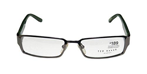Ted Baker Remix 4117 Mens/Womens Rectangular Full-rim Eyeglasses/Spectacles (52-17-0, Gunmetal / Dark Teal / Green) (Remix Vintage Shoes compare prices)
