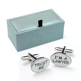 Novelty TRUST ME I'M A LAWYER Cufflinks Gift Boxed