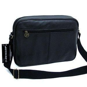 Dunlop Zip-top Shoulder Messenger Courier Flight Bag #66 black