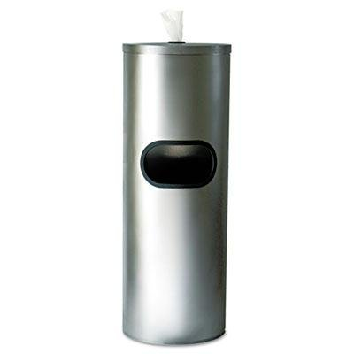 Brand New 2Xl Stainless Stand Waste Receptacle Cylindrical 5Gal Stainless Steel front-970525