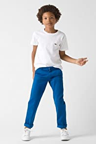 Boy's Cotton Gabardine Flat Front Chino
