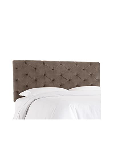 Skyline Furniture Queen Horizontal Tufted Headboard, Regal Smoke