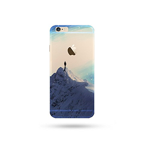 "Jinberry Colorate Custodia Protettiva in TPU Morbida per iPhone7 (4.7"") Dipinto Ultrasottile 0.5mm Case Back Cover con Protezione Tappi Polvere Apple iPhone 7 - Snow Mountain"