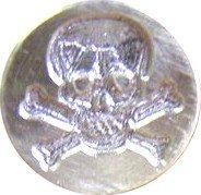 """Skull & Crossbones Brass 3/4"""" round Wax Seal Stamp"""