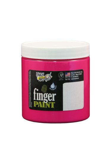 Handy Art by Rock Paint 246-155 Washable Finger Paint, 1, Fluorescent Magenta, 8-Ounce