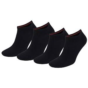 TOMMY HILFIGER Herren Flag Casual Business Sneaker Socken 4er Pack black 200 - 39/42
