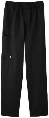 Five Star 18101 Adult's Zipper Front Pant Black 4X-Large (Five Star Chef Apparel compare prices)