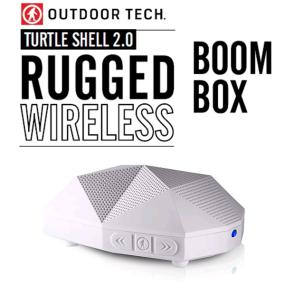 Outdoor Technology Turtle Shell 2.0 Rugged Water-Resistant Wireless Bluetooth Hi-Fi Speaker (White)