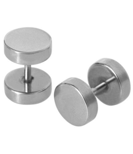 SIX silberne Fake-Plugs aus chirurgischem Stahl (269-327)