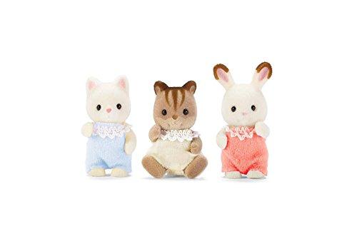 Calico Critters 3 Baby Friends Chipmunk Rabbit & Cat CC1482