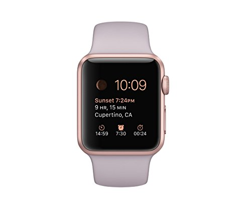 Apple Watch Sport 38mm Rose Gold Aluminum Case with Lavender Sport Band Review