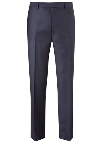 Austin Reed Contemporary Fit Herringbone Trousers SHORT MENS 36