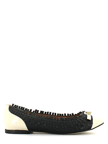 Cafe' noir DA120 Ballerina Nero/off white 36