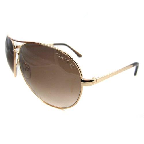 8cd9a9ed9432 Tom Ford Men s 0035 Charles Shiny Rose Gold Frame Brown Gradient Lens Metal  Sunglasses