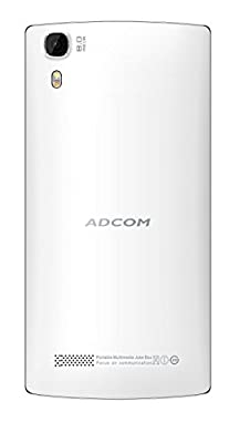 Adcom A54QuadcoreW Android Mobile Phone with 5 inch screen (White)