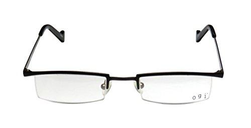 Ogi 2218 Mens/Womens Ophthalmic Classic Shape Designer Half-rim Eyeglasses/Spectacles (47-21-140, (Green Morph Mask)
