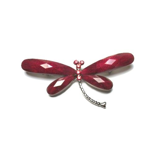 Red Dragonfly Austrian Crystal Pin