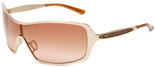 Oakley Women's Remedy OO4053-01 Wrap Sunglasses,Polished Gold Frame/Brown Gradient Lens,One Size
