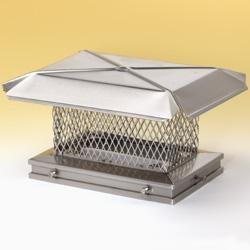 New 13'' x 13'' Gelco Stainless Steel Chimney Cap - 5/8'' Mesh