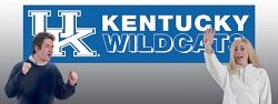 Kentucky Wildcats 8' Banner