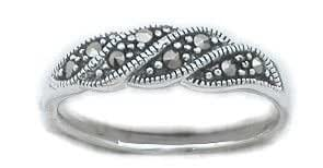 Silverflake -Marcasite Ring_1 Size 5(sizes 5,6,7,8,9,10 available)
