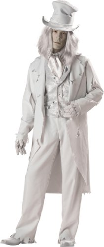 InCharacter Costumes, LLC Ghostly Gent Adult Coat, Gray, Medium