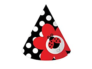 Creative Converting Ladybug Fancy Birthday Party Hats, 8-Count from Creative Converting