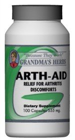 Arth Aid - All Natural Relief For Arthritis - 100 Capsules
