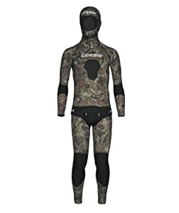 Buy 3.5mm Cressi Sub Mens 2 Piece FreeDiving Spear Fishing Camo Tecnica Wetsuit by Cressi