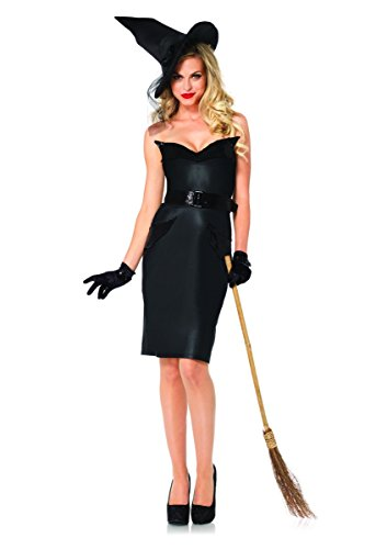 Leg Avenue 4PC Pencil Skirt Women's Vintage Witch Costume