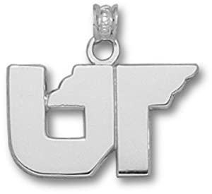 Tennessee Volunteers UT Pendant - 14KT White Gold Jewelry by Logo Art