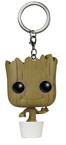 Funko 020057 Pocket Pop Guardians Of The Galaxy Dancing Groot Bobble Head portachiavi, 4 cm