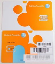 ATT 3G LTE プリペイド NANO SIMカードSKU 4682B 並行輸入品 ナノSIMカード