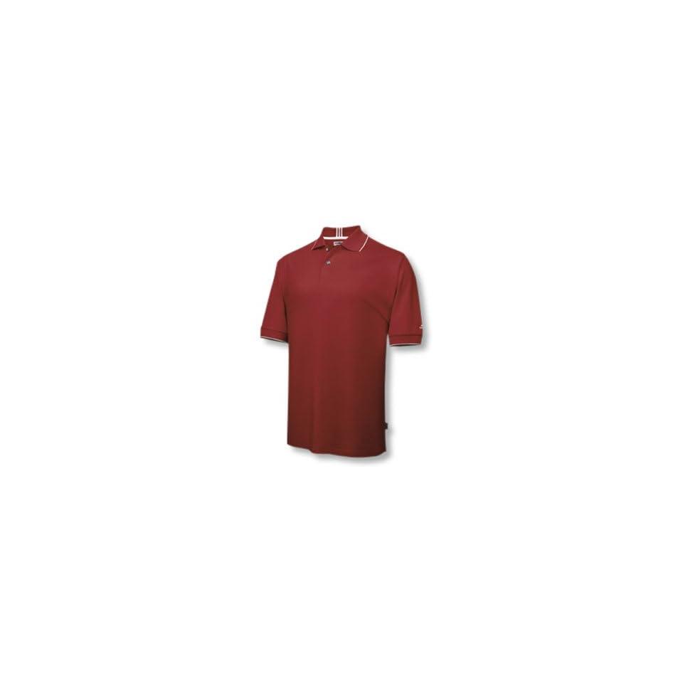 Adidas 2007 Mens ClimaLite Stretch Jersey Polo Shirt   University Red / White   363414