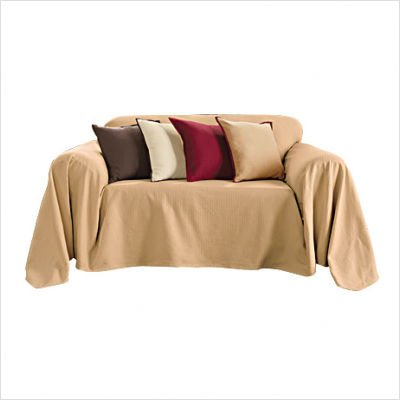 Buy Low Price Sure Fit Sure Fit Bristol Furniture Throw – Caramel (Loveseat Throw) (B002NG0W5W)