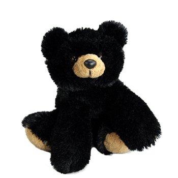 "Purr-Fection Braden Junior Snuggle Ups Black Bear 8"" Plush"